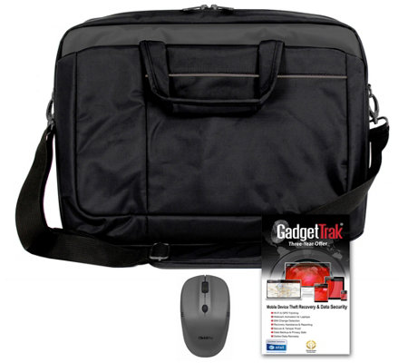"17"" Signature Carry Bag with Wireless Mouse & 3 Year GadgetTrak"