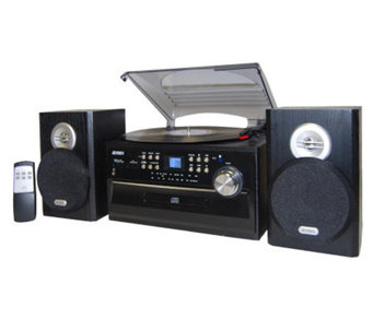 Jensen 3-Speed Stereo Turntable with CD, Cassette, AM/FM - E248689