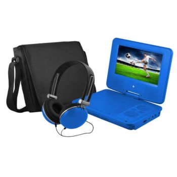 Ematic 7 Portable DVD Player with Headphones &Carrying Bag