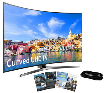 "Samsung 49"" Curved Smart 4K Ultra HDTV w/ HDMICable, App Pack - E288989"