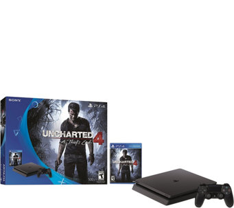 PlayStation 4 Slim 500GB Uncharted 4 Console Bundle - E290589