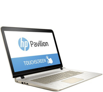"HP 17"" GoldLuxe Touch Laptop AMD A10, 8GB, 1TB w/ Software & LifeTimeTech - E229990"