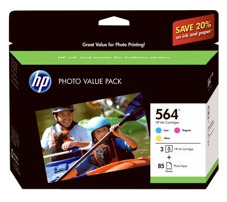 HP 564 Series Three-Ink Photo & Paper Pack forPrinter