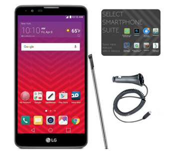 Virgin Mobile LG G Stylo 2 with Car Charger & 1Month Service - E289990