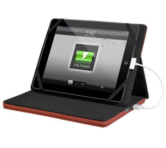 "Justin Case 9""-10"" Tablet Charging Case w/ 11,600mAh Battery Charger - E224791"