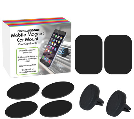 Set of Two Mobile Magnet Car Vent Mount