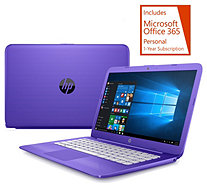HP Stream 14 Laptop 4GB RAM 32GB Windows10 MS Office 365 Case & Mouse - E230691