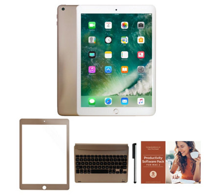 "2018 Apple iPad 9.7"" 32GB Wi-Fi Tablet with Keyboard and Accessories"