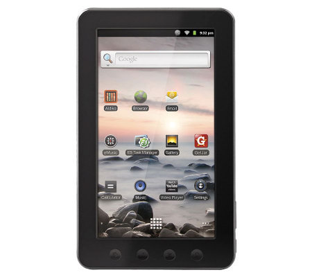 "Coby Kyros 7"" Diagonal 4GB Android TouchscreenWi-Fi Tablet"