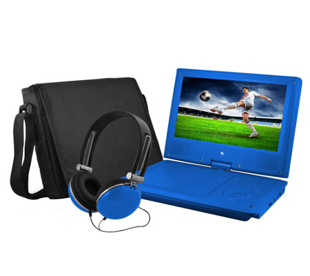 "Ematic 9"" Portable DVD Player with Headphones &Carrying Bag"