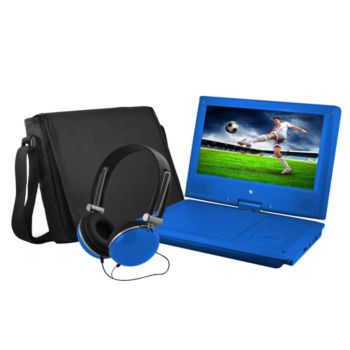 Ematic 9 Portable DVD Player with Headphones &Carrying Bag