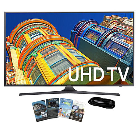 "Samsung 50"" Smart LED 4K Ultra HDTV with HDMI Cable & App Pac"