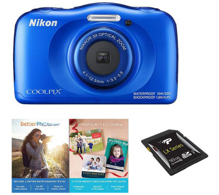 Nikon Coolpix W100 Waterproof Digital Camera with 1080p Video