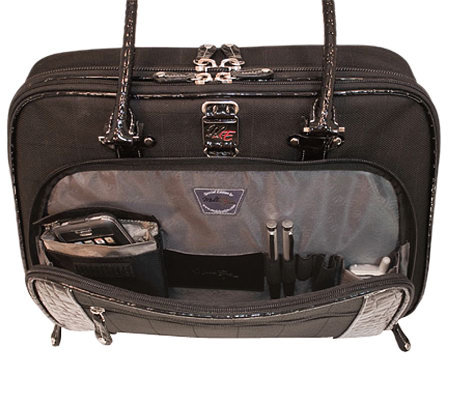 "Mobile Edge 16"" Women's Black ScanFast Briefcase"