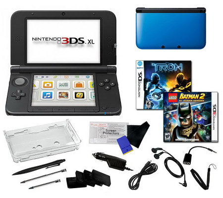 nintendo 3ds xl bundle with 2 games and acc essories. Black Bedroom Furniture Sets. Home Design Ideas