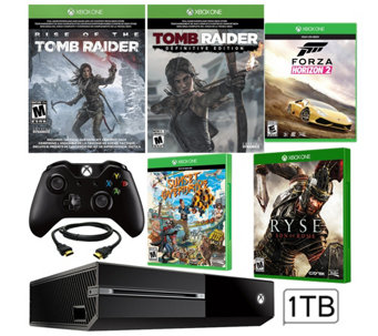Xbox One 1TB Tomb Raider Bundle with Five Games - E289592