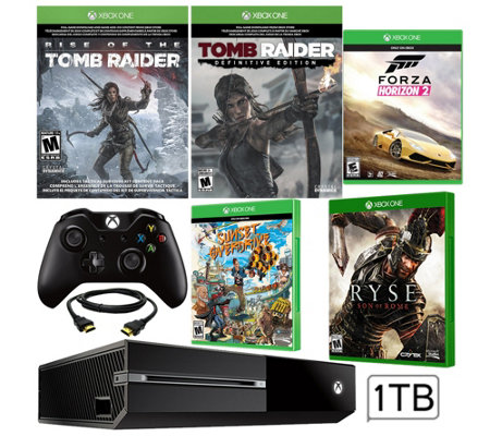 Xbox One 1TB Tomb Raider Bundle with Five Games