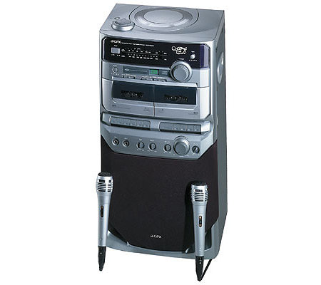 karaoke machine with cassette player