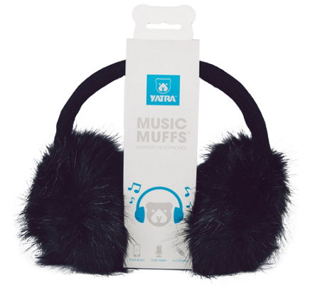 Music Muffs Fashionable Wired Plush Earmuffs
