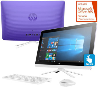 "HP 22"" Touch All-in-One PC 8GB RAM 1TB HDD Lifetime Tech & MS Office 365 - E229293"
