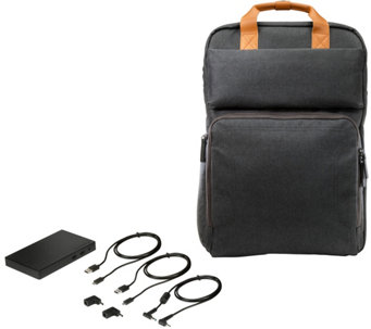 HP PowerBag Backpack Charges Computers, Tablets & More - E230193