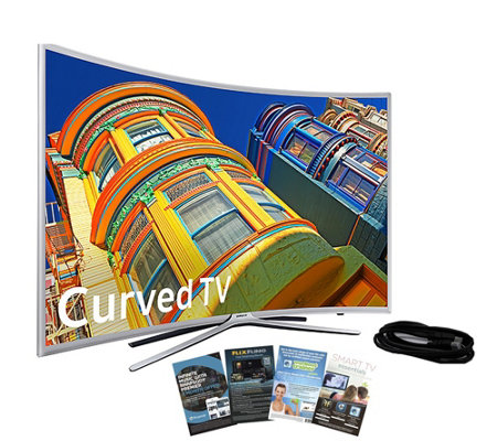 "Samsung 55"" Curved Smart LED HDTV with HDMI Cable & App Pack"