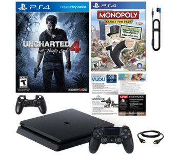 PlayStation 4 Slim 500GB Console with Uncharted 4 and Accessories - E230194