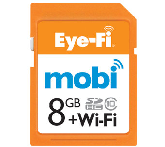 Mobi Eye-Fi Wireless 8GB SDHC Memory Card & Cloud Service - E282794