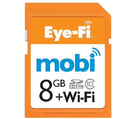 Mobi Eye-Fi Wireless 8GB SDHC Memory Card & Cloud Service
