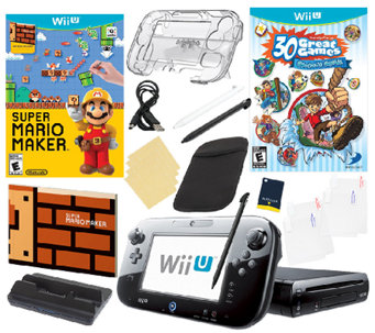 Nintendo Wii U Bundle w/ Super Mario Maker and30 Great Games - E285694
