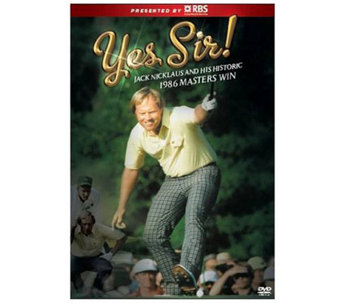 Yes, Sir! Jack Nicklaus and Historic 1986 Masters Victory DVD - E263795