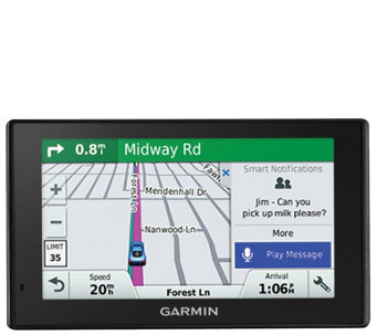 "Garmin 5"" DriveSmart GPS w/ Free Lifetime Maps& Traffic - E288295"