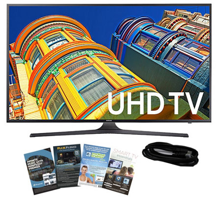 "Samsung 55"" Smart LED 4K Ultra HDTV with HDMI Cable & App Pac"
