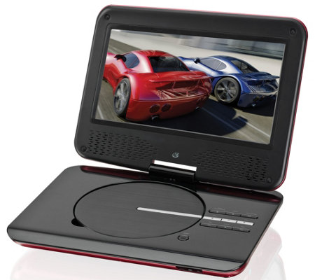 "GPX 9"" Portable DVD Player with Foldable SwivelDisplay"