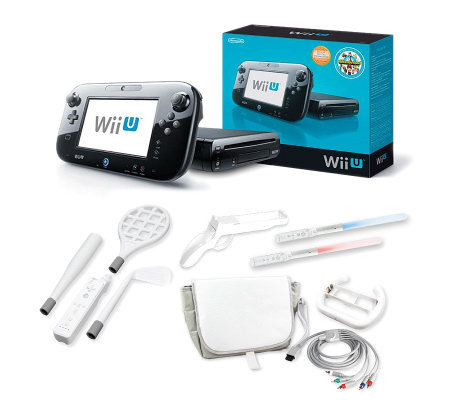 wii u black 32g console game pad with accessories page 1. Black Bedroom Furniture Sets. Home Design Ideas