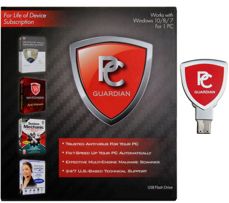 PC Guardian All-in-One Lifetime PC Antivirus, Tech & Tune up
