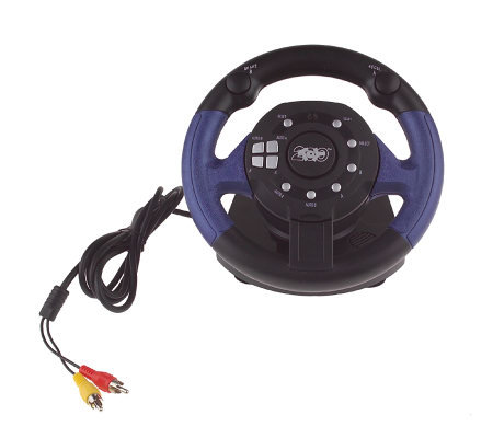 11-in-1 Plug and Play Steering Wheel with Driving Arcade Games