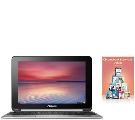 "ASUS 10.1"" TouchChromebook Flip Quad-Core 4GB 16GB 2YR LMW"