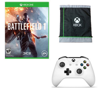 Battlefield 1 w/ Xbox Controller & Cinch Bag - E290196