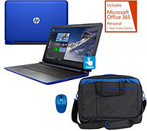 HP 15 Pavilion Touch Laptop AMD A10, 8GB 1TB, Bag,Mouse, Tech & MSOffice - E229997