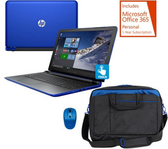 HP 15 Pavilion Touch Laptop AMD A10, 8GB 1TB, Bag,Mouse Tech & MSOffice - E229997