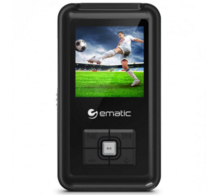 "Ematic 8GB MP3 Video Player with FM Tuner &1.5"" Screen"