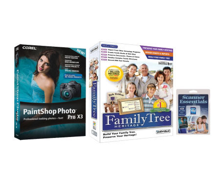 4GB SD Card with Corel Paintshop & Family Tree