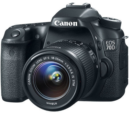 Canon EOS 70D DSLR Camera with 18-55mm Lens & Strap