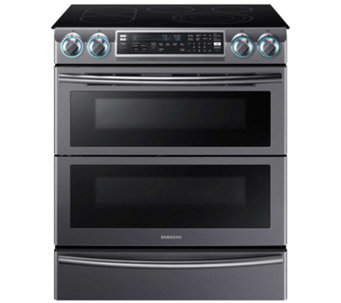 "Samsung 30"" Flex Duo Electric Range - Black Stainless Steel - E288698"