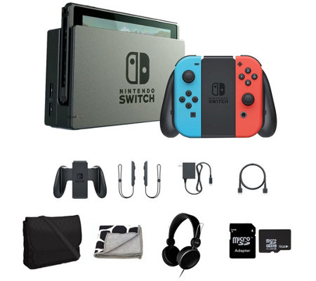 Nintendo Switch with Headphones, Travel Tote &Accessories