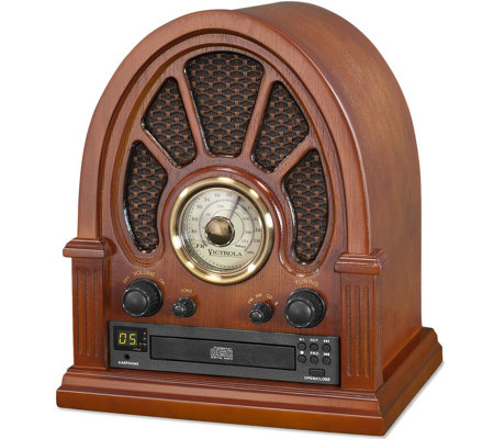 Innovative Technology Victrola Vintage Radio with CD Player