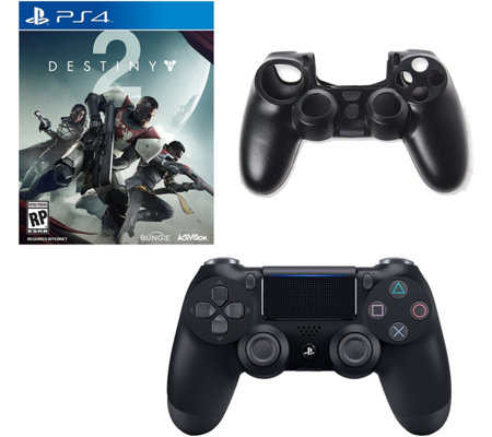 Sony PS4 DualShock 4 Controller, Destiny 2 & Silicone Sleeve
