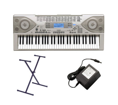 casio ctk900 61 key full size keyboard w midi stand adapter. Black Bedroom Furniture Sets. Home Design Ideas