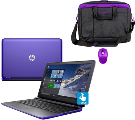HP 15 Pavilion Touch Laptop AMD A10, 8GB, 1TB, Bag, Mouse Tech &MS Office